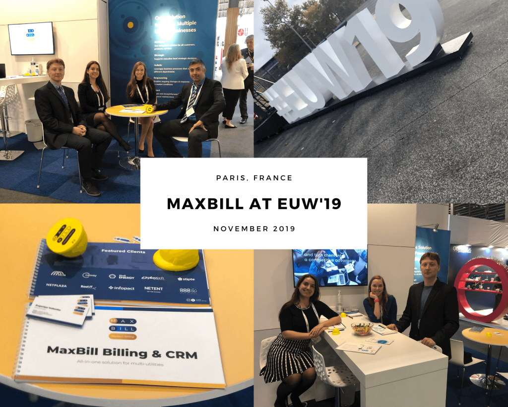 The MaxBill team visited European Utility Week in Paris on November, 2019.