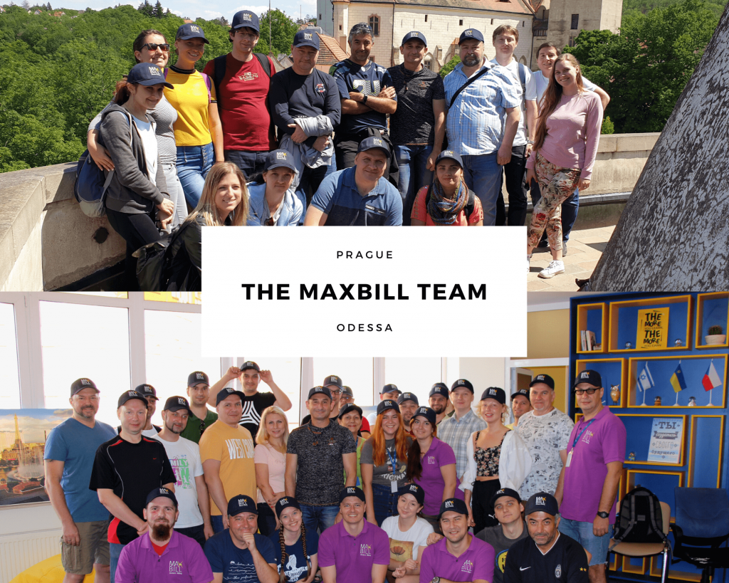 The MaxBill team celebrating summer at corporate events